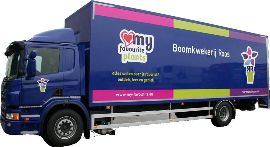 reclame op vrachtwagen