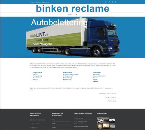 website, reclame