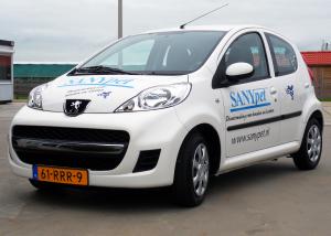Autoreclame, autobelettering, kleine personenwagen